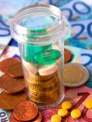 medicaments-billets-pieces-argent